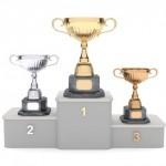 Siegerpodest für Skat Turnier
