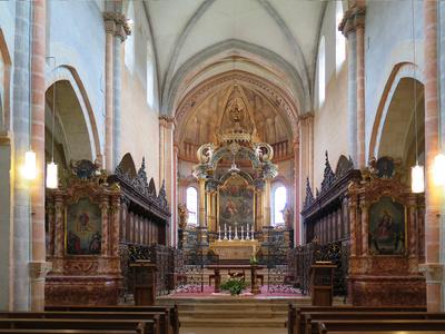 Kirchraum von St-Ursanne | berggeist007 / pixelio.de